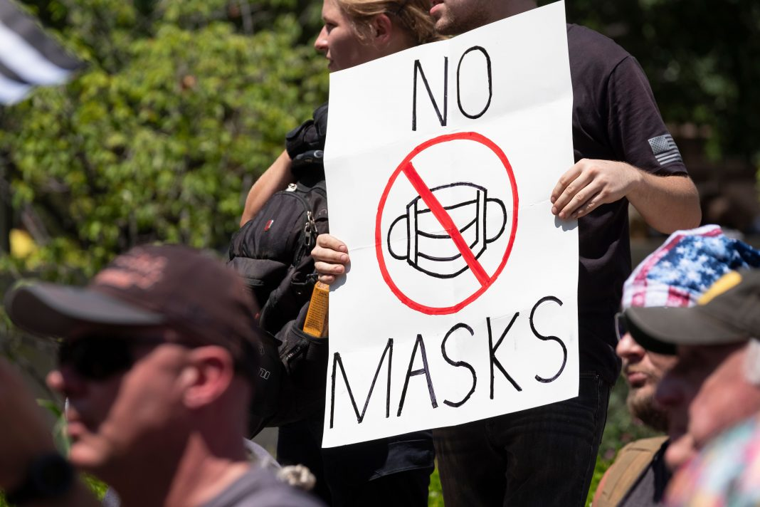 anti mask protest mask enforcement