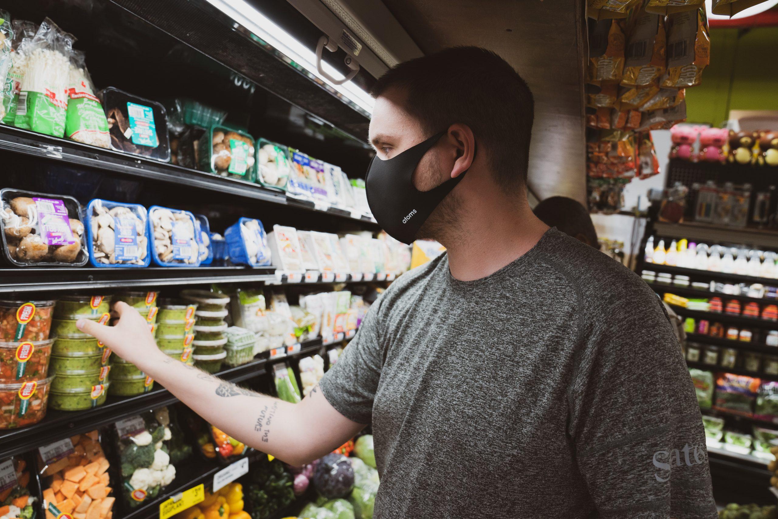 mask wearing mask study grocery store