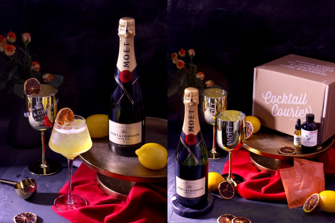 Moet & Chandon golden globes cocktail delivery at home