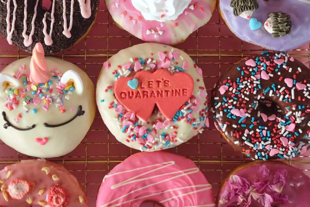 valentine delivery and takeout cute doughnuts