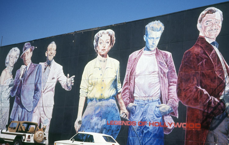 hollywood mural