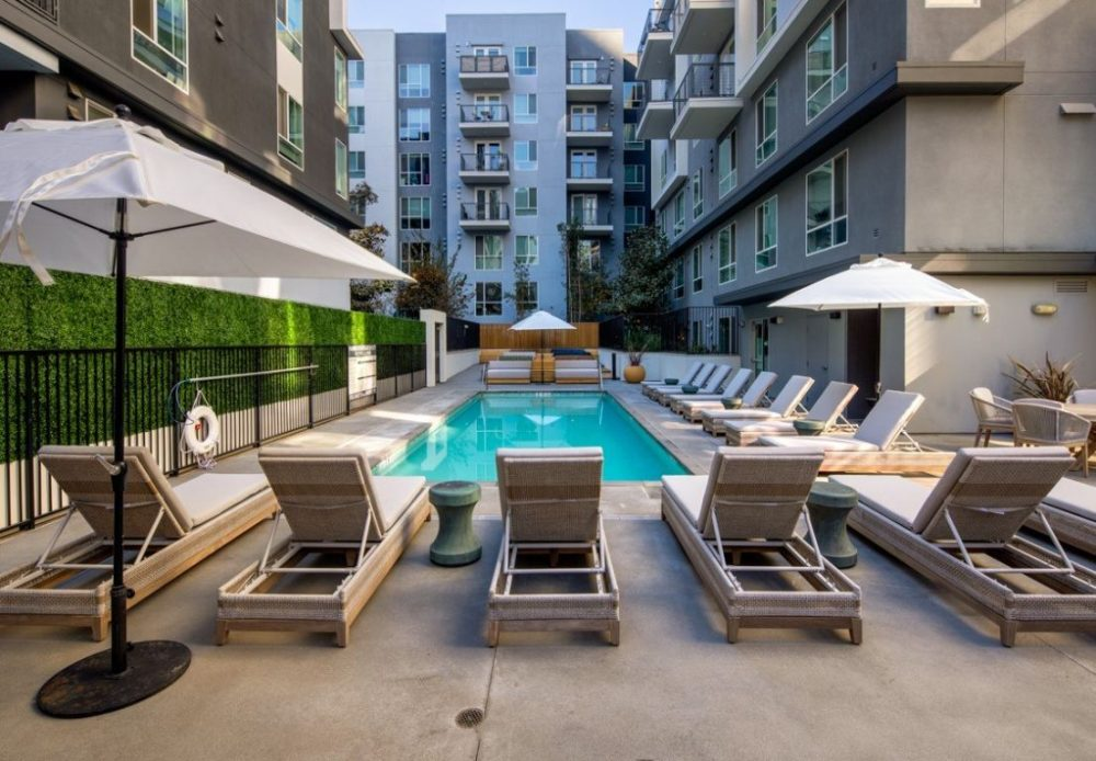 Be DTLA wellness apartment building