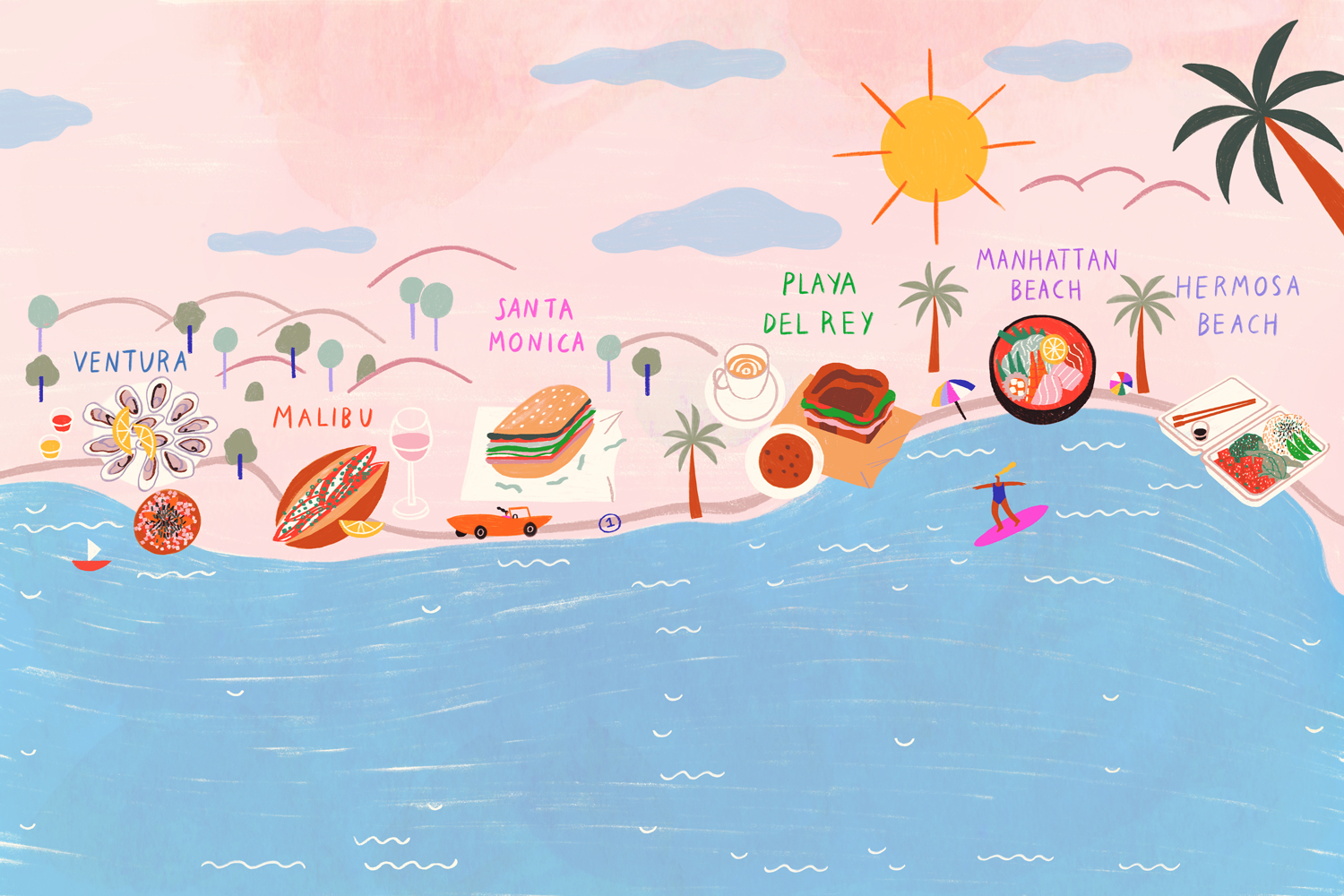 From Ventura to Hermosa, Where to Eat When You Head to the Beach