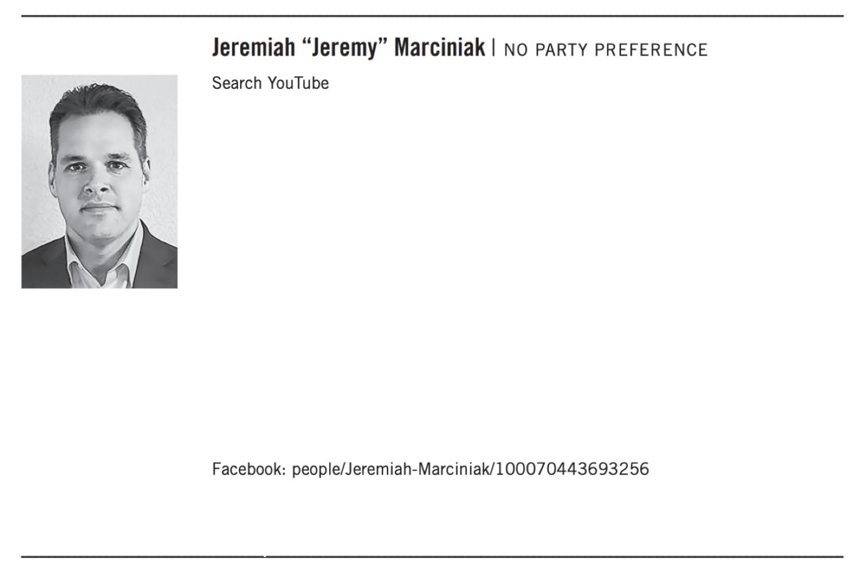 Recall candidate Jeremiah Marciniak