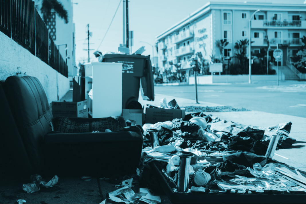 illegal trash dumping