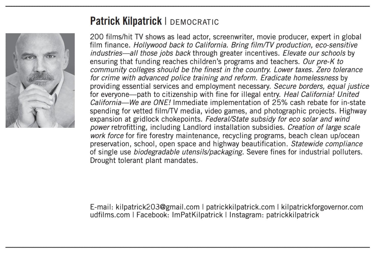 Democratic candidate Patrick Kilpatrick