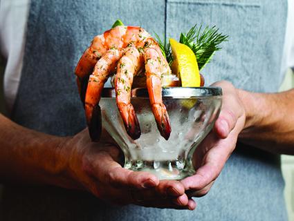 LeFevre riffs on classic like shrimp cocktail