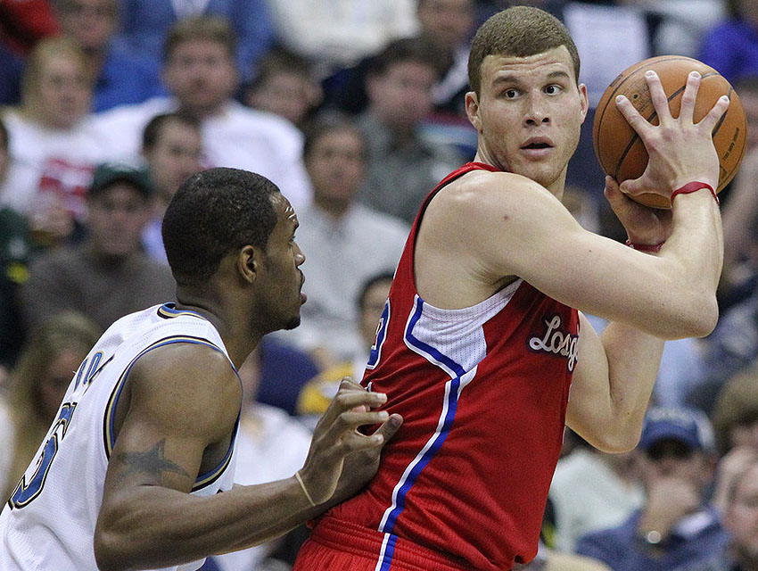 Blake Griffin in a game against the Wizards